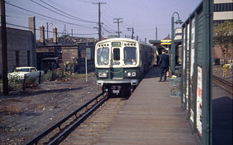 Laramie station (CTA Blue Line) - The station in 1967