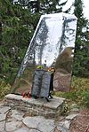 1969 airplane crash memorial on Polica mountain.jpg