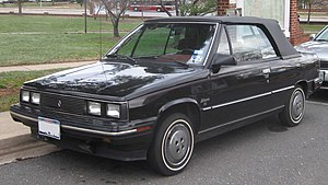 Renault Alliance - Image: 1985 Renault Alliance convertible
