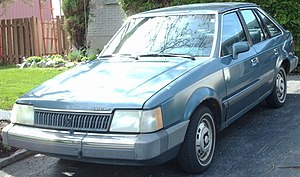 Mercury Lynx - Image: 1986 Mercury Lynx 5 Door
