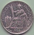 1 Piastre de Commerce - French Indo-China (1928) Art-Hanoi.jpg