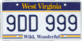 2006-series West Virginian license plate.png