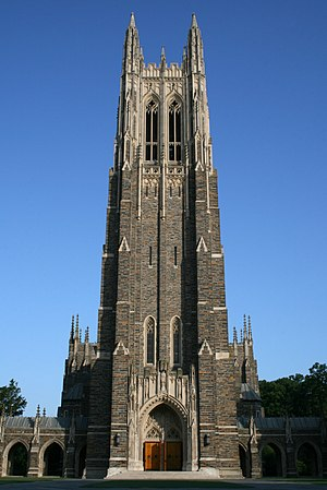 English: Duke Chapel at Duke University in Dur...