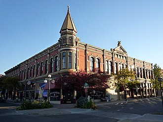 Ellensburg, Washington - Historic Davidson Building, completed in 1890