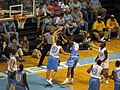 20081024 Ed Davis shoots over Tyler Hansbrough in an intrasquad scrimmage.jpg