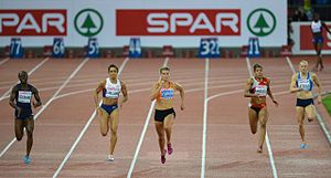 Dafne Schippers - Schippers setting a national record on the 200 metres in Zürich in 2014