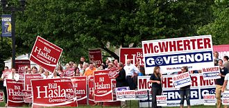 2010 Tennessee gubernatorial election - Simultaneous Haslam and McWherter rallies before the Highlands Town Hall Debate