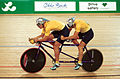 201000 - Cycling track Eddie Hollands Paul Clohessy action - 3b - 2000 Sydney race photo.jpg