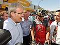 2010 0119 Tour Down Under Murray Street Gawler PM Kevin Rudd, Premier Mike Rann and Tony Piccolo MP (4) (19927264086).jpg