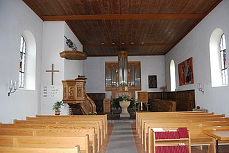 Ferenbalm - Interior of Ferenbalm's Protestant church