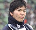 20120310 Shuto Takajo, catcher of the Yokohama BayStars, at Seibu Dome.JPG