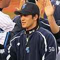 20120503 Tatsuya Shimozono, outfielder of the Yokohama DeNA BayStars, at Yokohama Stadium.JPG