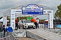 2013 10 05 12-50Rallye France, Parc assistance Colmar, podium, Pascal Mackerer.jpg