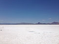 2014-07-05 13 01 24 View west-northwest across the Bonneville Salt Flats, Utah from the Bonneville Salt Flats Rest Area on Interstate 80.JPG