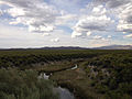 2014-07-30 17 22 23 View north down the Reese River from U.S. Route 50 in Lander County, Nevada.JPG