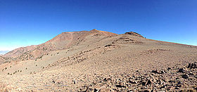 2014-10-19 10 18 42 Panorama north towards the south summit of Mount Jefferson, Nevada from about 10680 feet on the trail from Jefferson Summit.JPG
