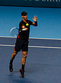 2014-11-12 2014 ATP World Tour Finals Thomas Berdych forehand by Michael Frey.jpg
