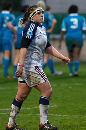 Gaëlle Mignot - Image: 2014 Women's Six Nations Championship France Italy (61)