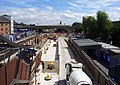 2015 London-Abbey Wood, Railway Station, Crossrail construction site 2.jpg