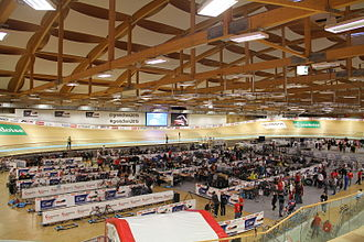 2015 UEC European Track Championships - Interior of Velodrome Suisse during the Championships