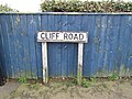 2016-01-06 Street sign, Cliff Road, Overstrand, Cromer.JPG