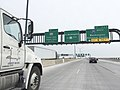 2016-01-22 08 58 27 Signs for Exit 2 and Exit 3 on the Woodrow Wilson Bridge (northbound Interstate 95 and the eastbound outer loop of the Capital Beltway (Interstate 495)) in Alexandria, Virginia.jpg
