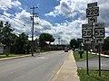 2016-06-06 14 33 56 View south along U.S. Route 220 and West Virginia State Route 28 and west along West Virginia State Route 55 (Virginia Avenue) between Pine Street and Grove Street in Petersburg, Grant County, West Virginia.jpg
