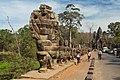 2016 Angkor, Angkor Thom, Brama południowa (02).jpg