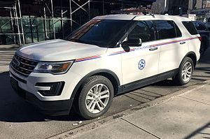United States Postal Inspection Service - Postal Police vehicle in New York City, a 2016 Ford Police Interceptor Utility