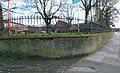 2016 Woolwich, Woolwich New Rd, old fencing 01.jpg