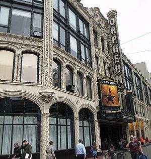 Orpheum Theatre (San Francisco) - Image: 2017 Orpheum Theatre closeup