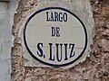 2018-02-14 Tile street name sign, Largo de São Luiz, Alte.JPG