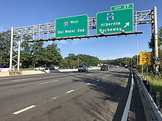 Rockaway Township, New Jersey - I-80 westbound at the CR 513 exit in Rockaway Township