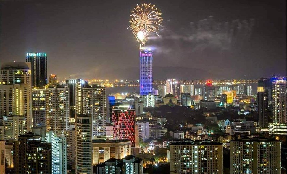 2018 New Year Fireworks in George Town, Penang