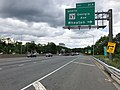 2019-05-27 12 39 53 View east along the inner loop of the Capital Beltway (Interstate 495) at Exit 31A (Maryland State Route 97 North-Georgia Avenue, Wheaton) on the border of Forest Glen and Silver Spring in Montgomery County, Maryland.jpg