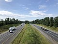2019-06-24 09 53 38 View south along Interstate 95 from the overpass for Virginia State Route 628 (Spotsylvania Parkway) in Massaponax, Spotsylvania County, Virginia.jpg