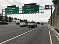 2019-06-24 17 14 23 View north along Interstate 95 and the east along the outer loop of the Capital Beltway (Interstate 495) at the Thru Lanes and Local Lanes split in Rose Hill, Fairfax County, Virginia.jpg