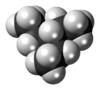 Spacefill model of 3-ethylpentane