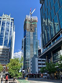 300 George Street, Brisbane under construction in March 2019, 02.jpg