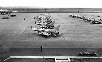 31st Fighter Wing - F-100s assigned to the 31 TFW on the ramp at George AFB, CA, 1961.
