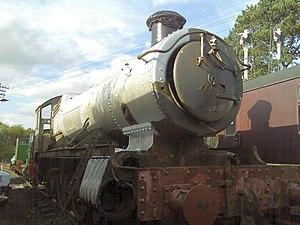 GWR 4900 Class 5967 Bickmarsh Hall - 5967 Bickmarsh Hall under restoration at Northampton & Lamport Railway