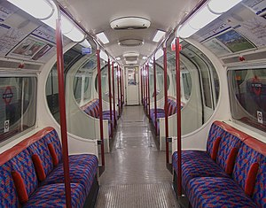 Bakerloo line - The interior of a Bakerloo line train