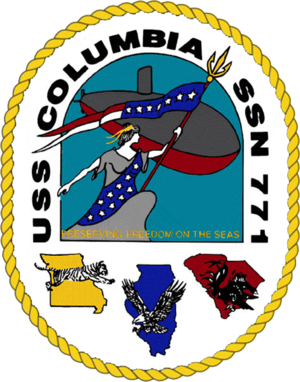 USS Columbia (SSN-771) - Image: 771insig