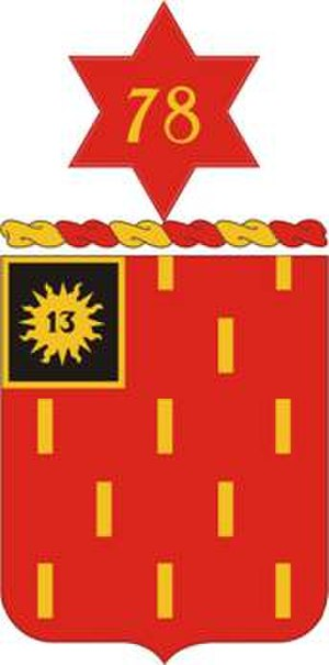 78th Field Artillery Regiment - Coat of arms