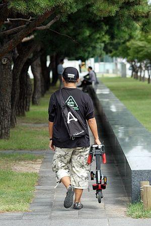 A-bike walking
