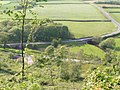 A595 crossing the R. Mite and The Eskdale Railway - geograph.org.uk - 1059756.jpg
