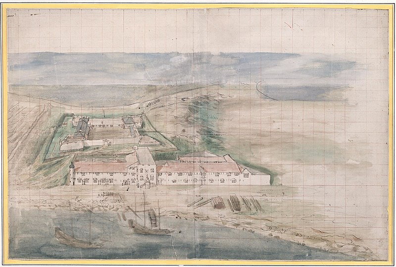 File:AMH-6167-NA View of Governor's house and warehouses in front of Fort Zeelandia on Formosa.jpg