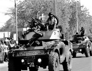 1960s vehicle-mounted 60 mm gun-mortar of French origin