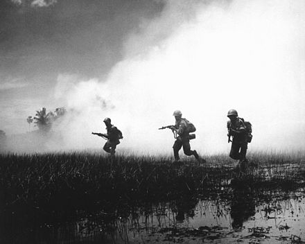 ARVN forces assault a stronghold in the Mekong Delta. ARVN in action HD-SN-99-02062.JPEG