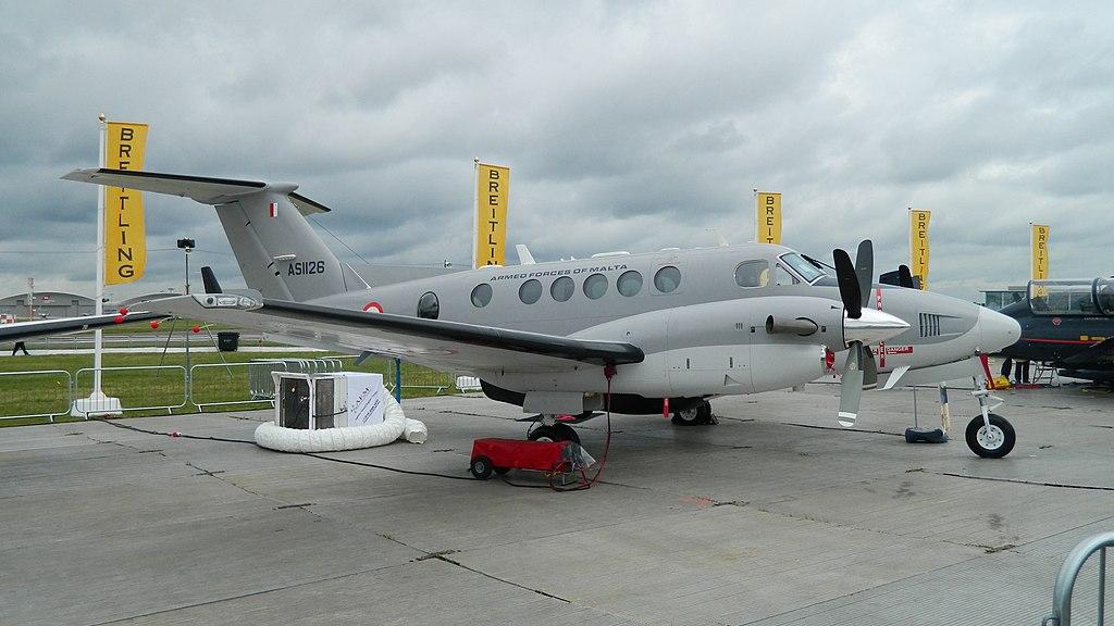 armée maltaise 1024px-AS1126-Malta-KingAir-0645
